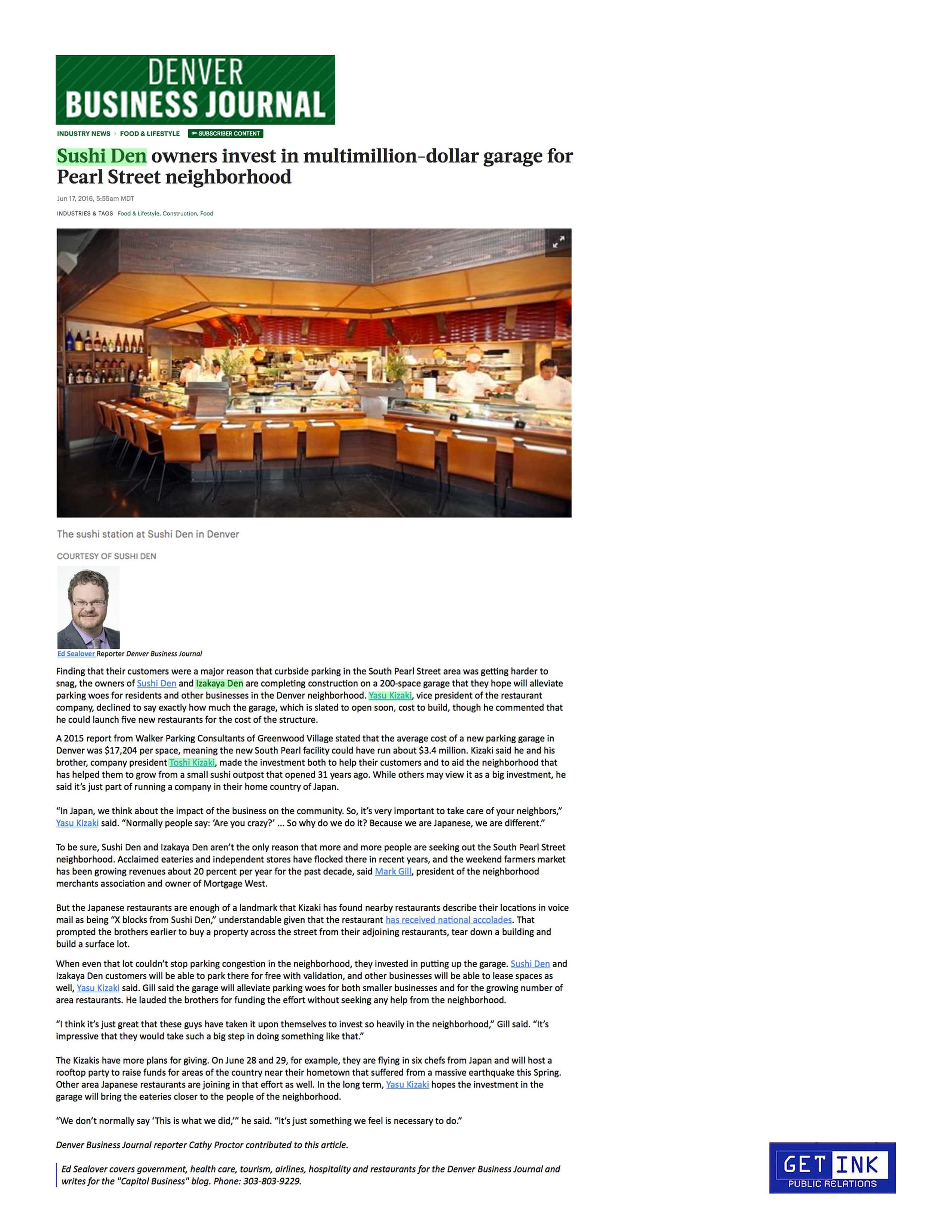 Denver Business Journal OTOTO